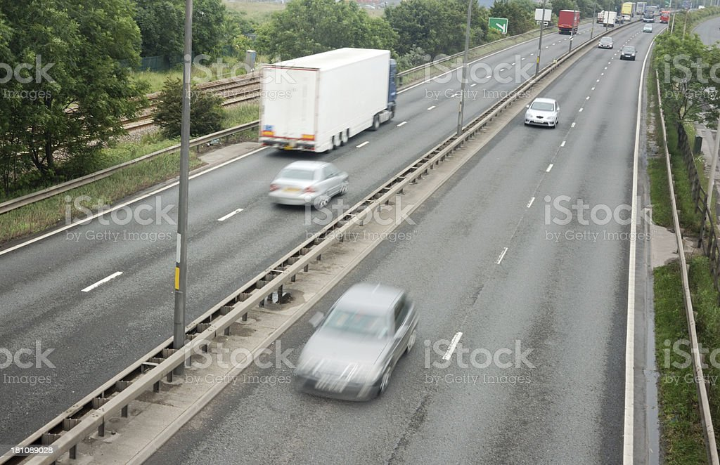 Traffic on a UK Road royalty-free stock photo