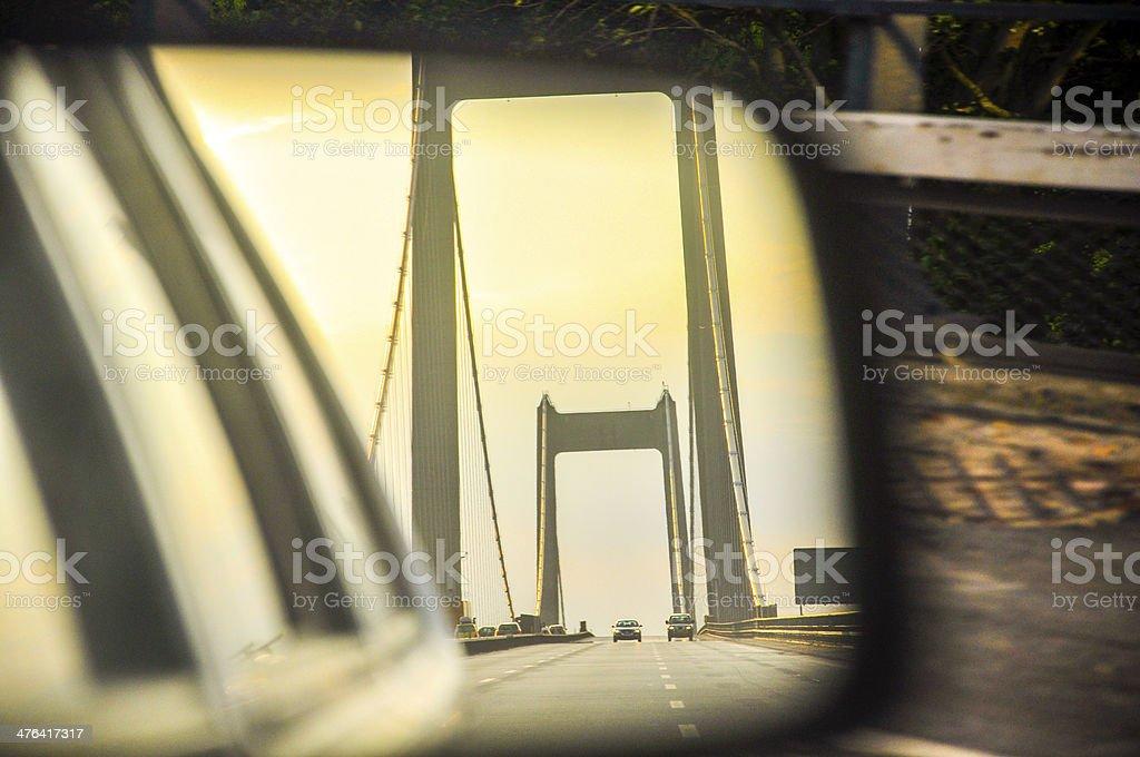 Traffic on bridge in Danmark royalty-free stock photo