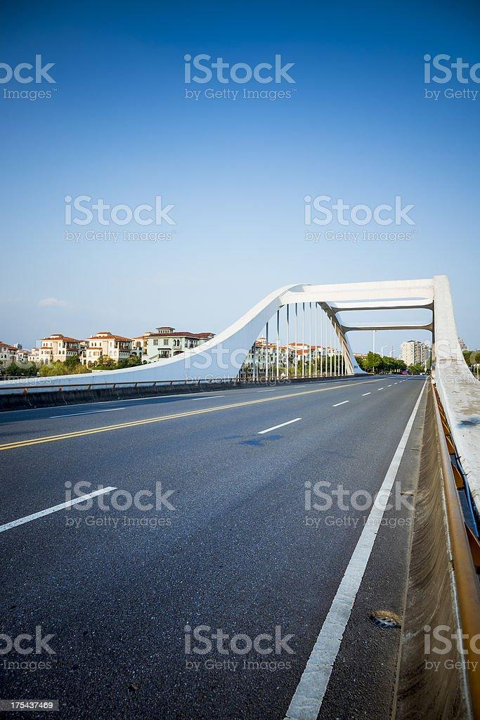 traffic on bridge royalty-free stock photo