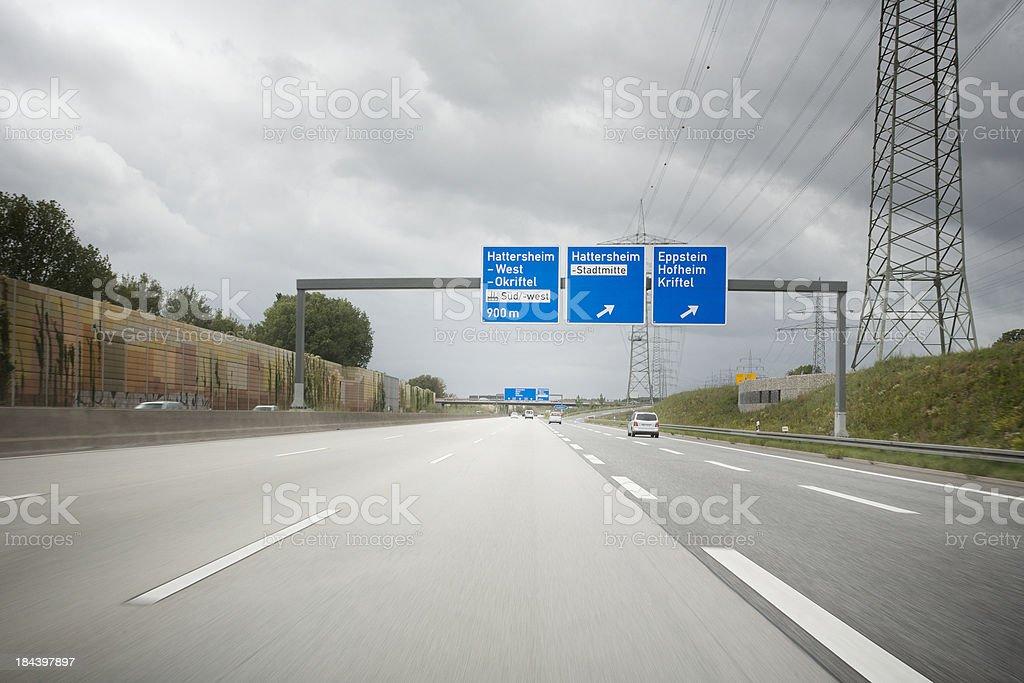 Traffic on german autobahn A66 royalty-free stock photo