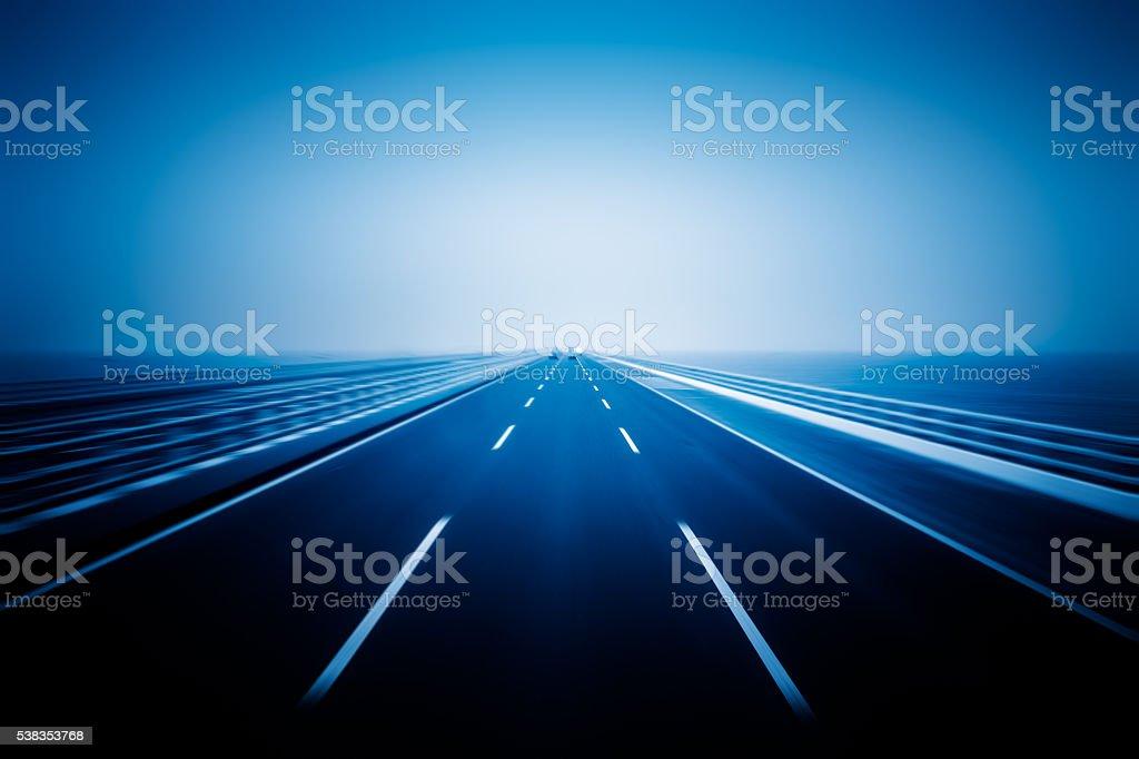 traffic on haiwan bridge,qingdao stock photo