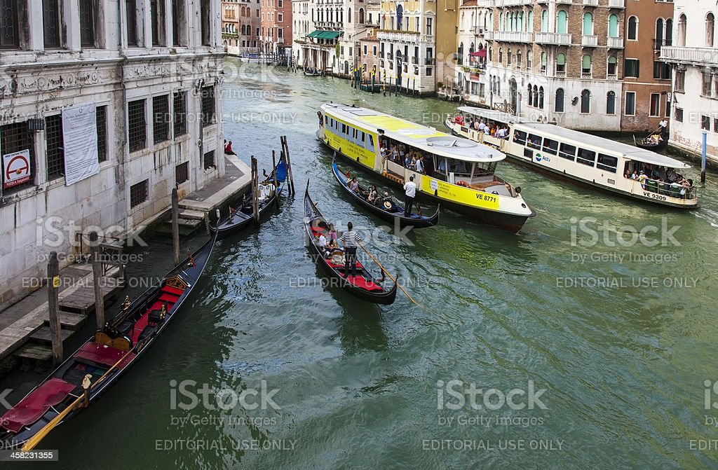 Traffic on he Grand Canal royalty-free stock photo