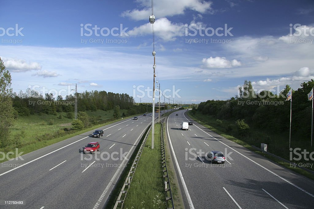 Traffic on highway in Denmark #1 royalty-free stock photo