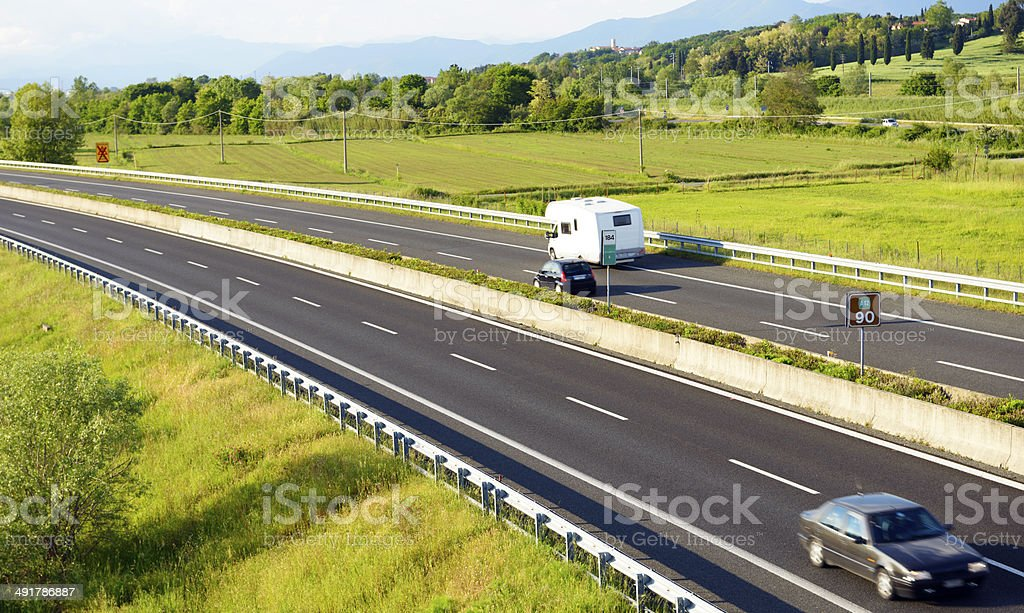Traffic on Highway royalty-free stock photo