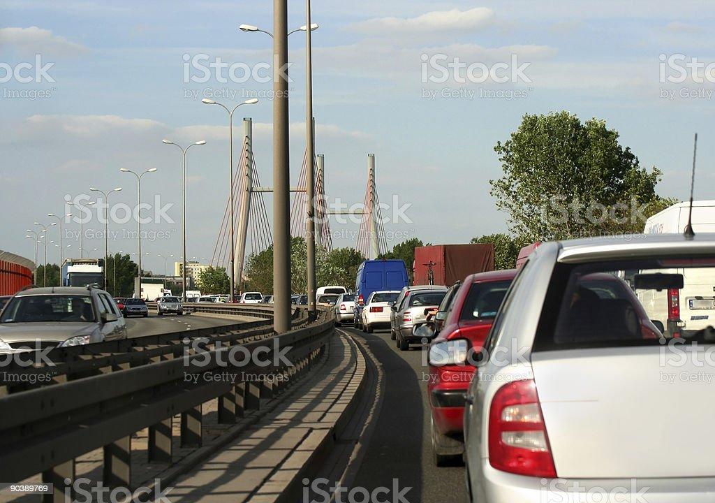 traffic on motorway royalty-free stock photo