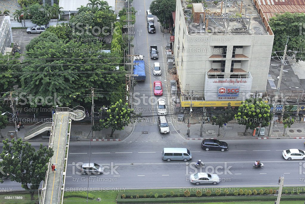 Traffic On Ratchadaphisek Road royalty-free stock photo