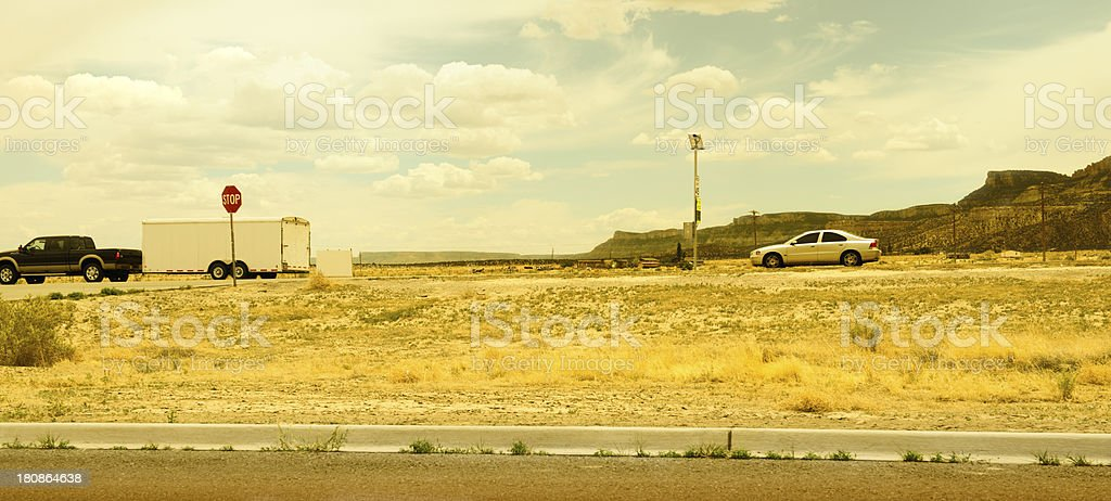 Traffic on Route 66,USA royalty-free stock photo