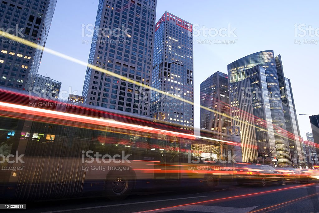 Traffic on sunset royalty-free stock photo