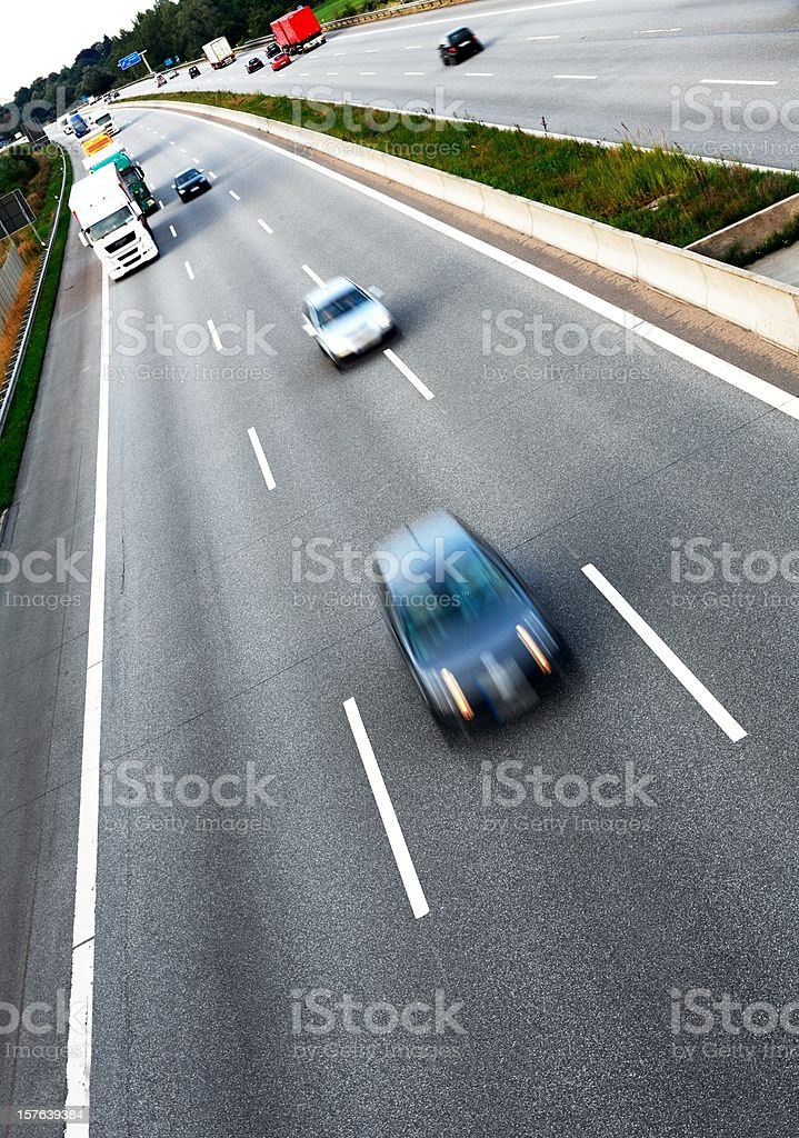 Traffic on the freeway stock photo
