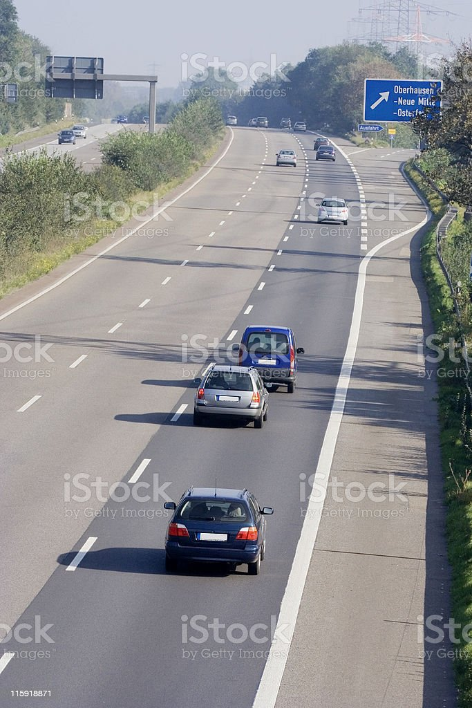 traffic on the highway royalty-free stock photo