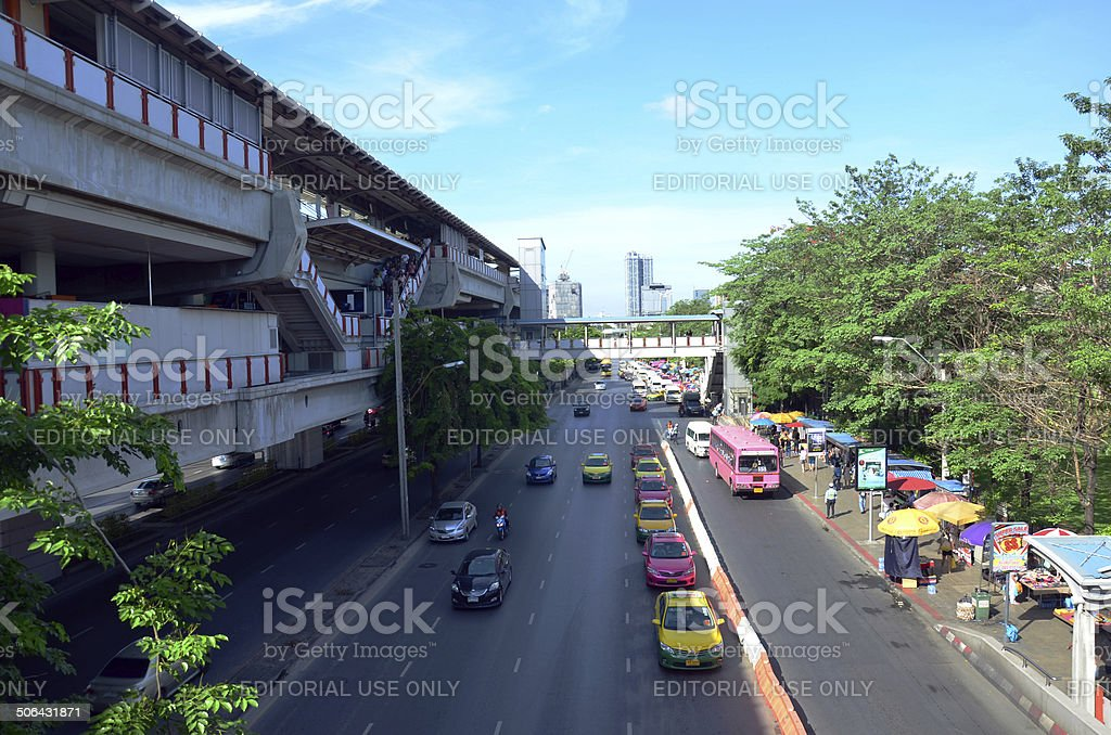 Traffic on the road in Bangkok Thailand royalty-free stock photo