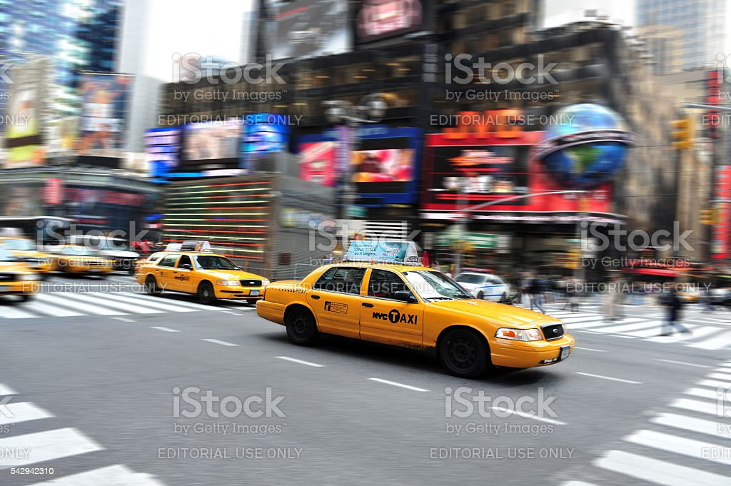 Traffic on Times Square Manhattan New York, USA. stock photo