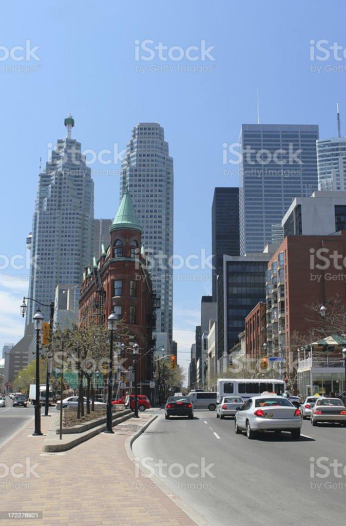 Traffic on Toronto Street stock photo