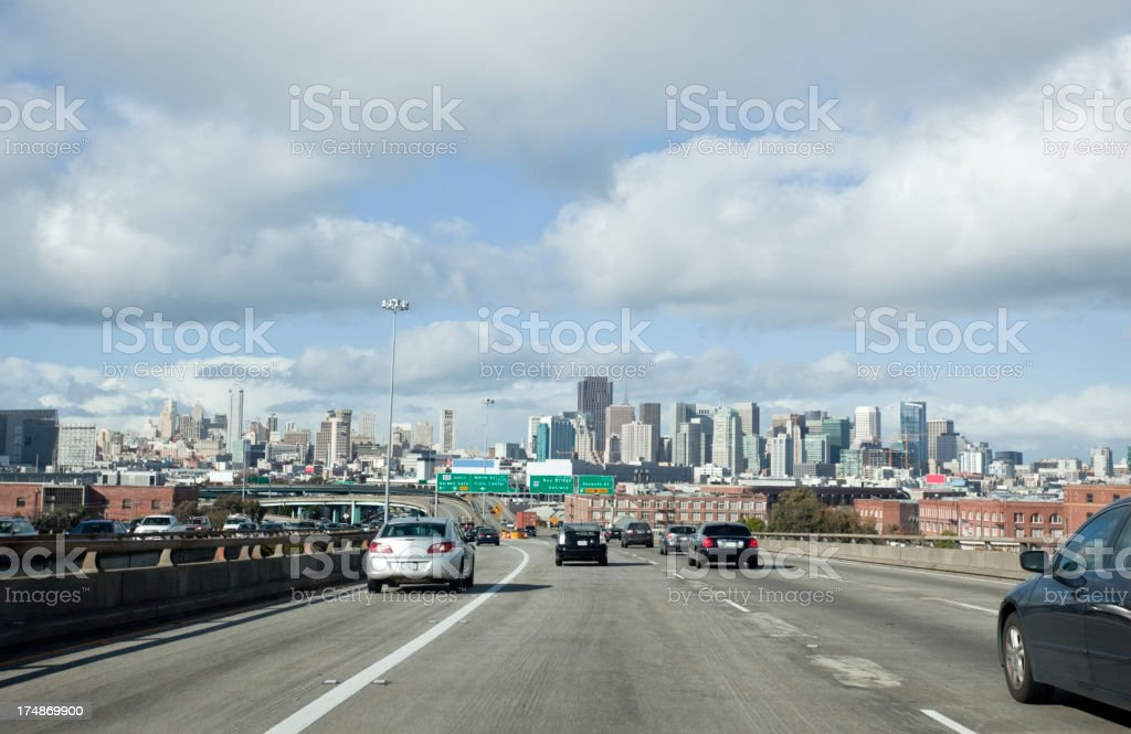 SF 101 Traffic royalty-free stock photo
