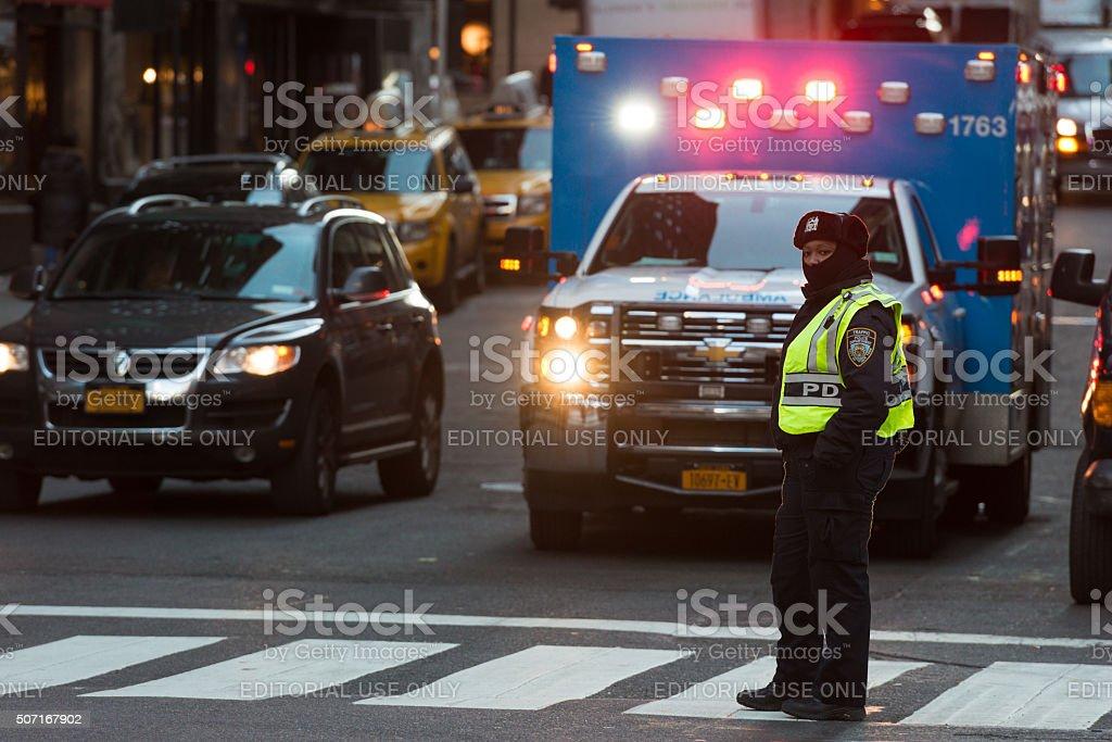 NYPD Traffic stock photo