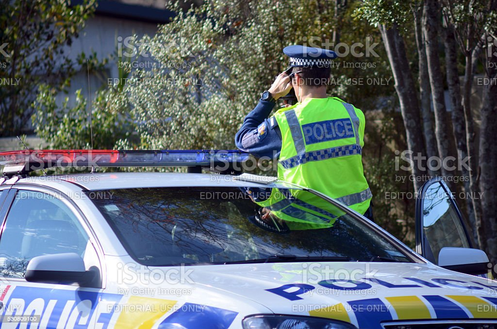 Traffic Police officer stock photo