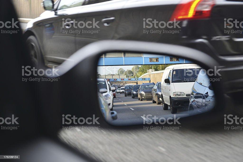 Traffic Reflected royalty-free stock photo