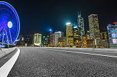 Traffic road in downtown of Hong Kong
