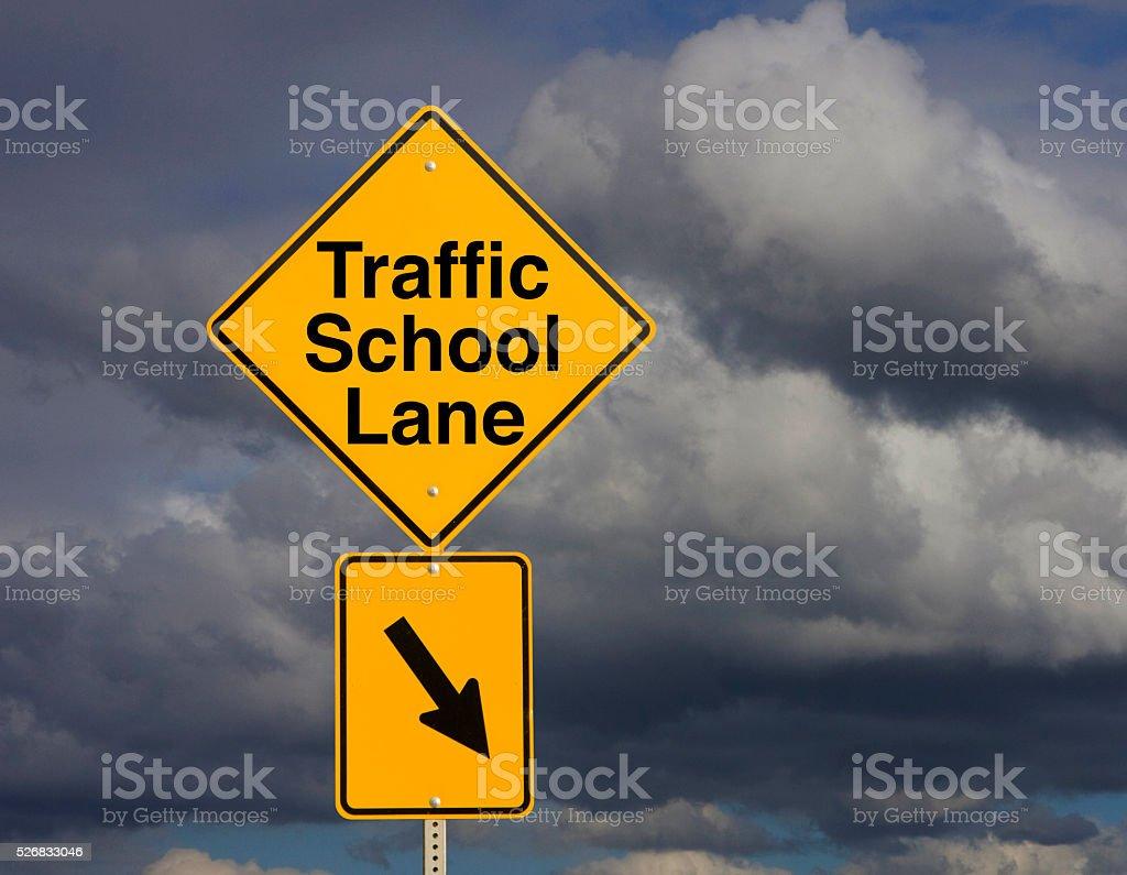 Traffic School Lane stock photo