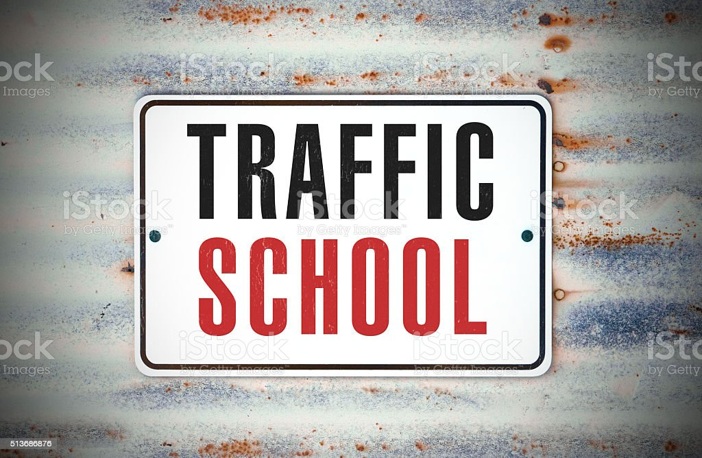 Traffic School stock photo
