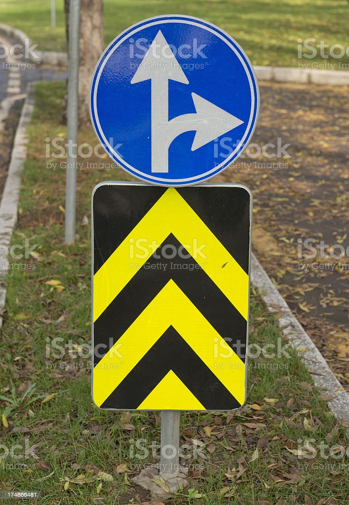Traffic Sign at Nature royalty-free stock photo