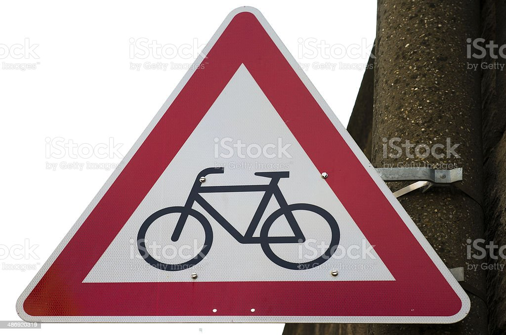 Traffic sign Bicycling prohibited Germany stock photo