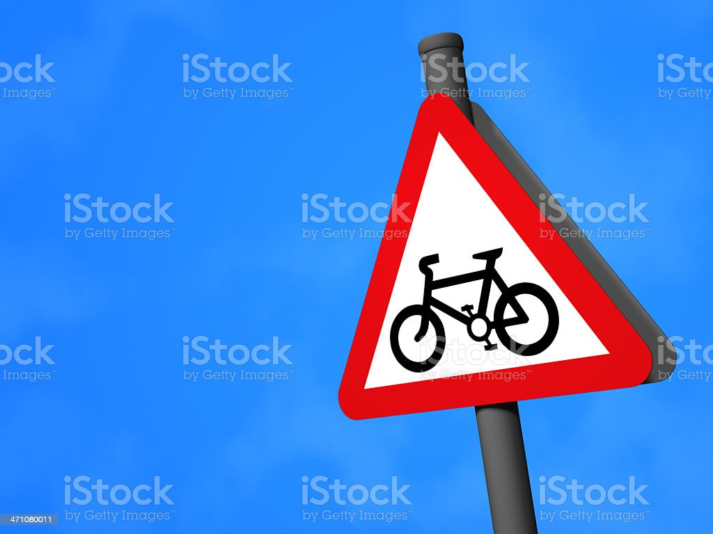 UK Traffic Sign - Cycle Route royalty-free stock photo
