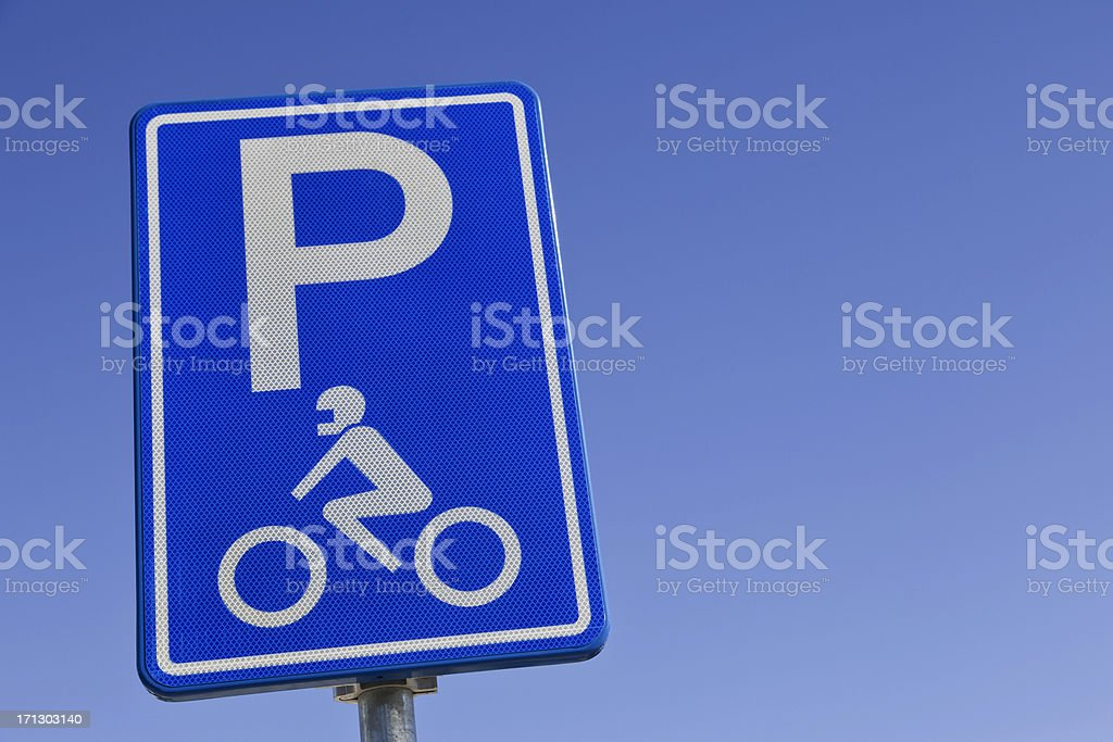 Traffic sign for motorcycles # 2 XXXL royalty-free stock photo