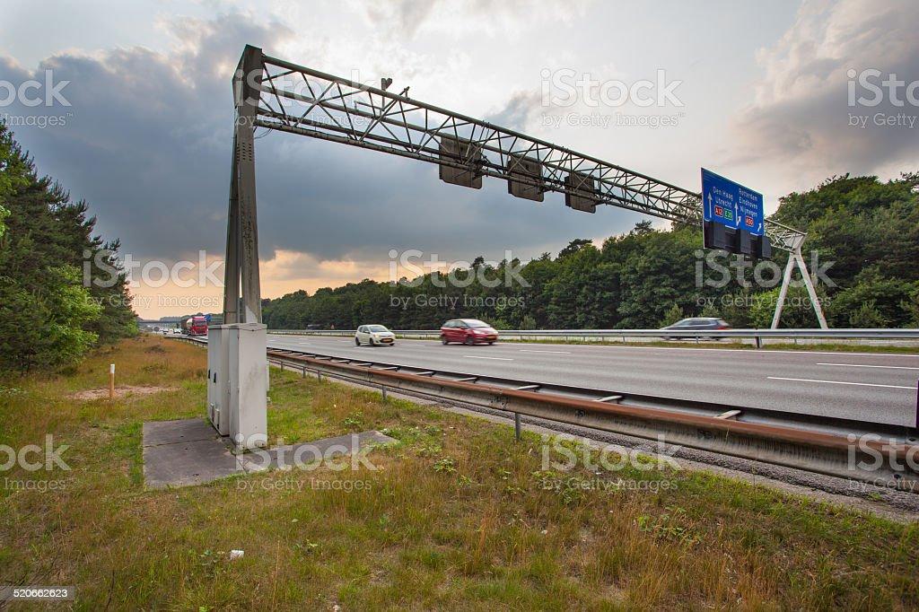 Traffic Sign Gantry stock photo