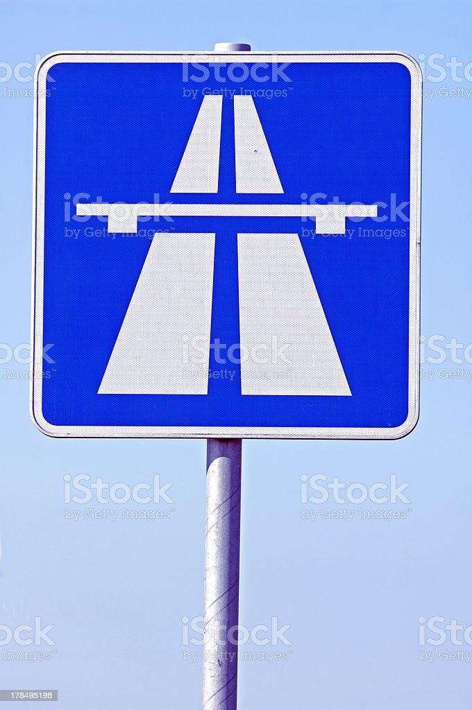 Traffic sign Germany Autobahn stock photo