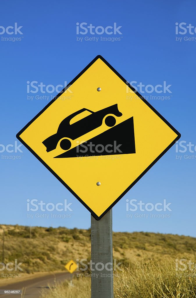 Traffic sign in Patagonia. royalty-free stock photo