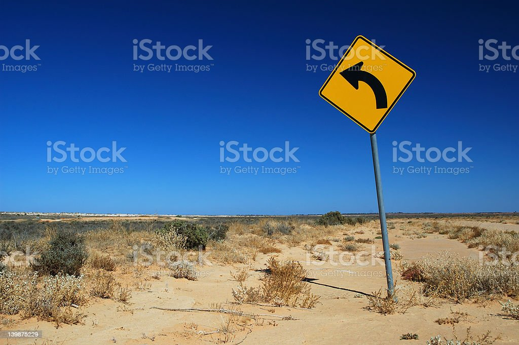 Traffic Sign on a Rural Road royalty-free stock photo