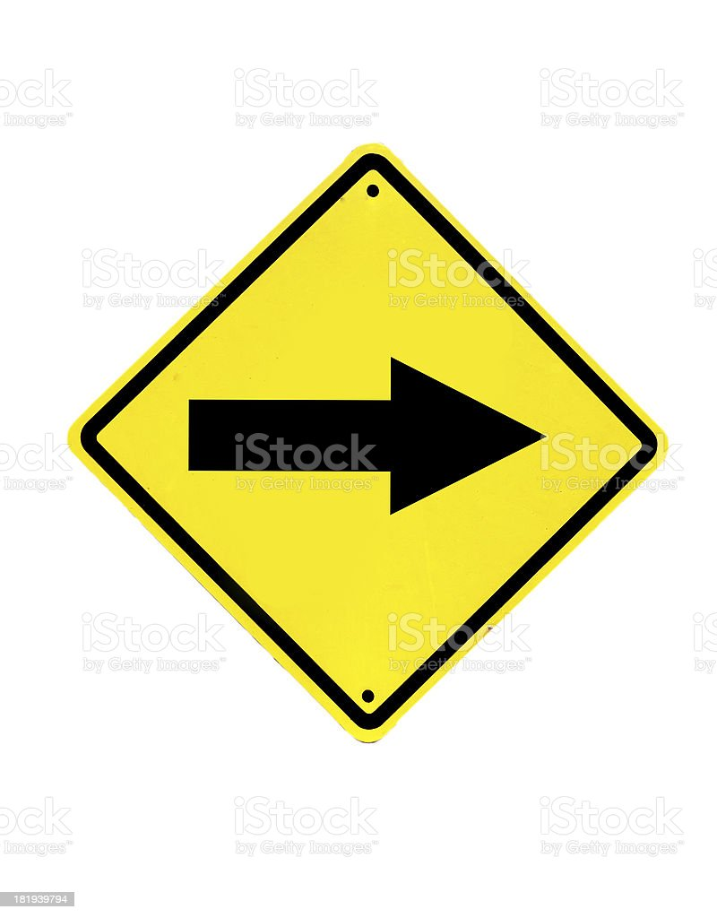 Traffic sign on a white background royalty-free stock photo