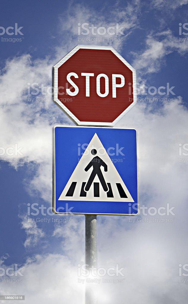 Traffic sign stock photo