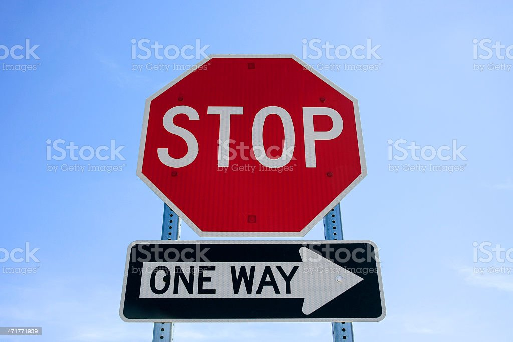 Traffic sign royalty-free stock photo