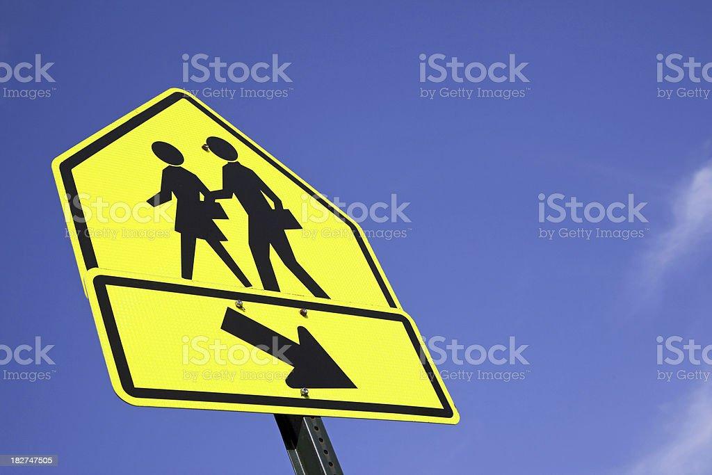 Traffic sign school children # 4 XXXL royalty-free stock photo