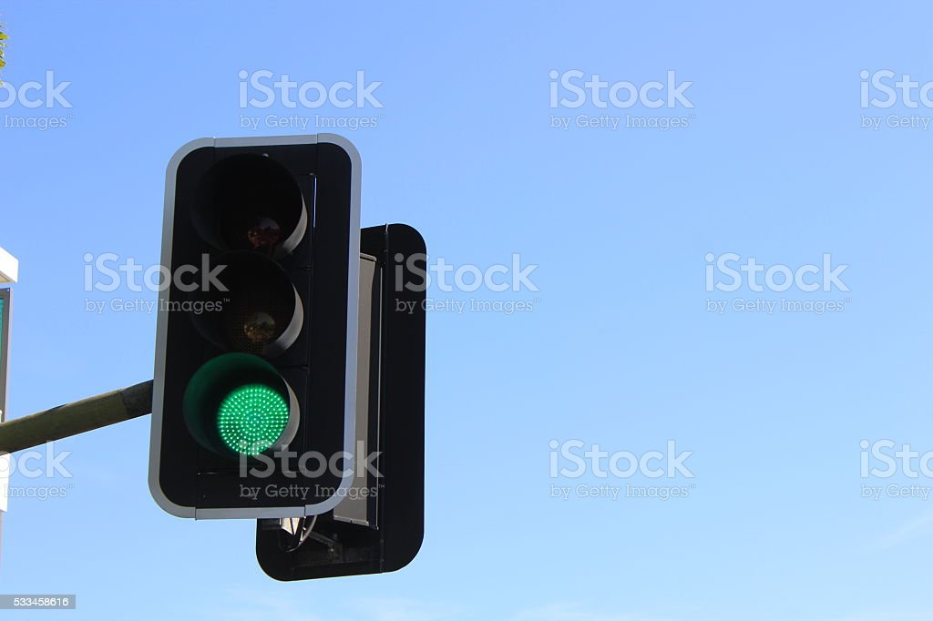 Traffic Signal and Sky stock photo