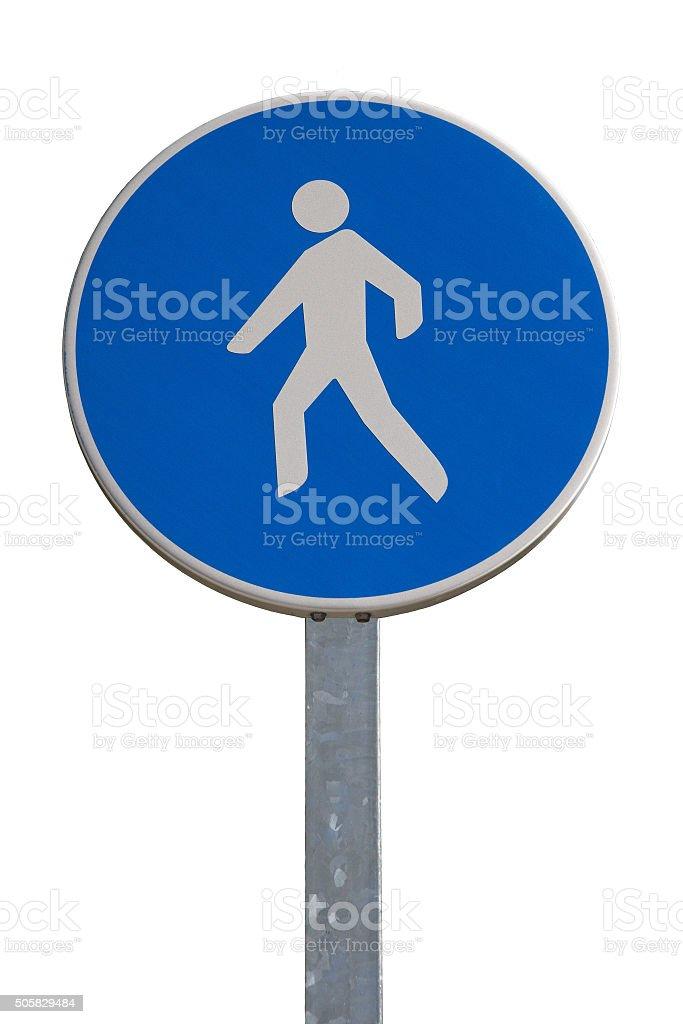 Traffic signal, Pedestrian Street - Señal de Trafico Peatones stock photo