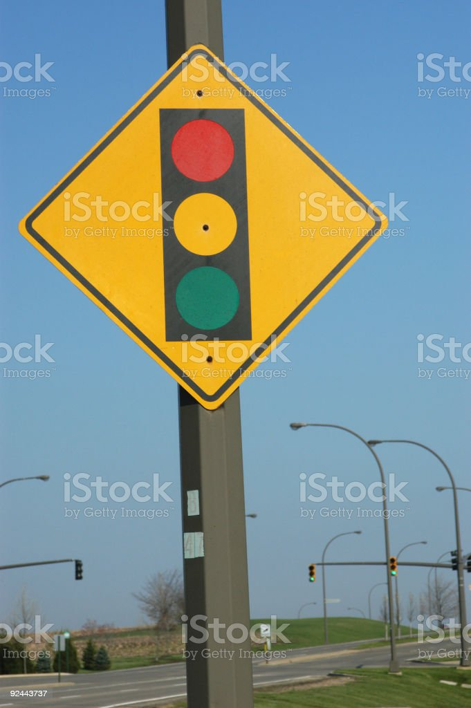 Traffic Signal sign royalty-free stock photo