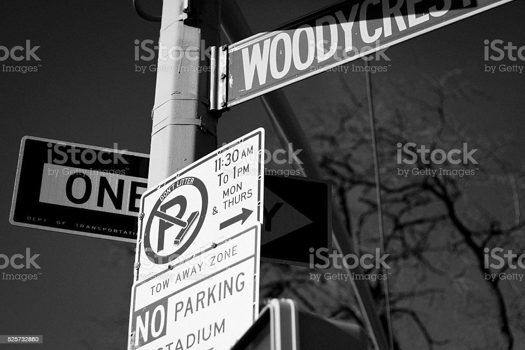 Traffic signals (No parking) stock photo