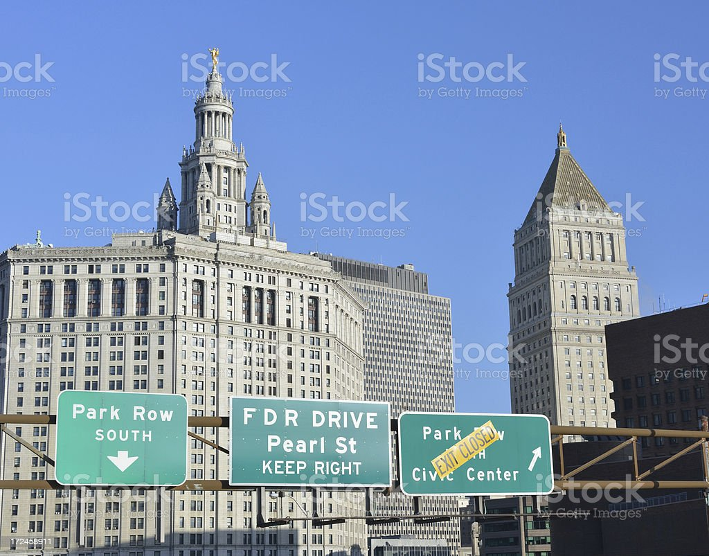 Traffic Signs in New York royalty-free stock photo