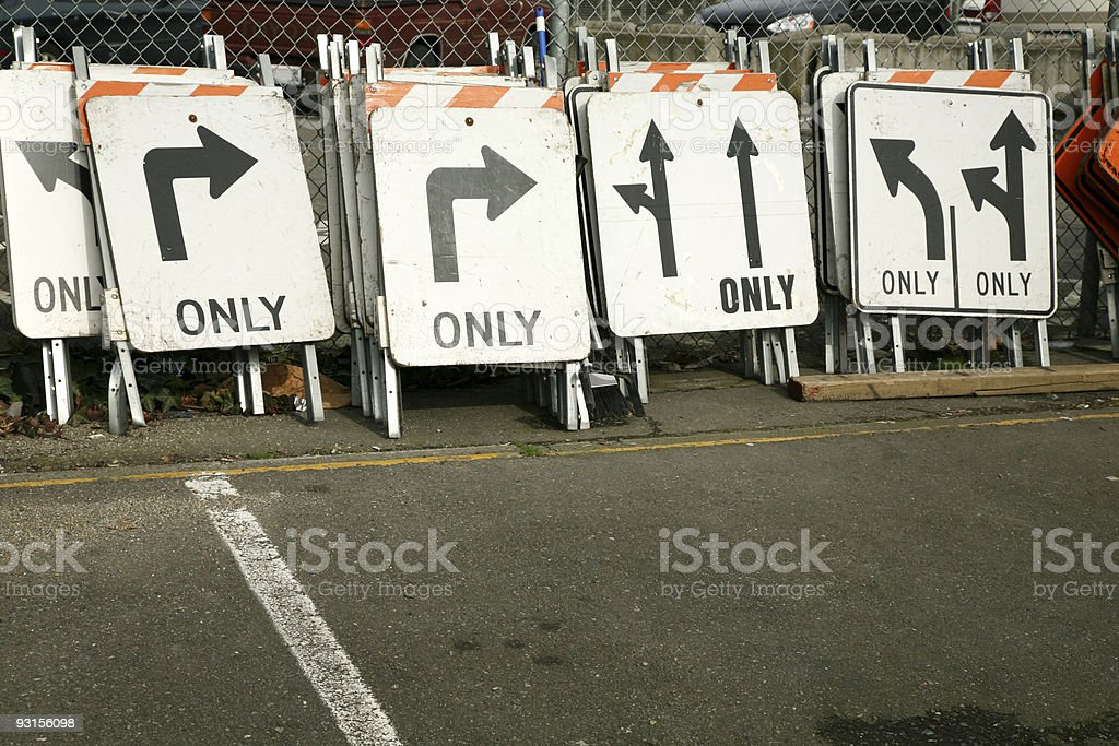 Traffic Signs. stock photo