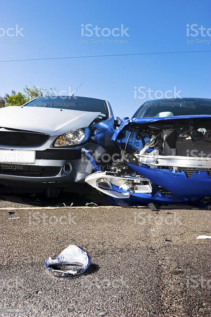 Traffic smash aftermath royalty-free stock photo