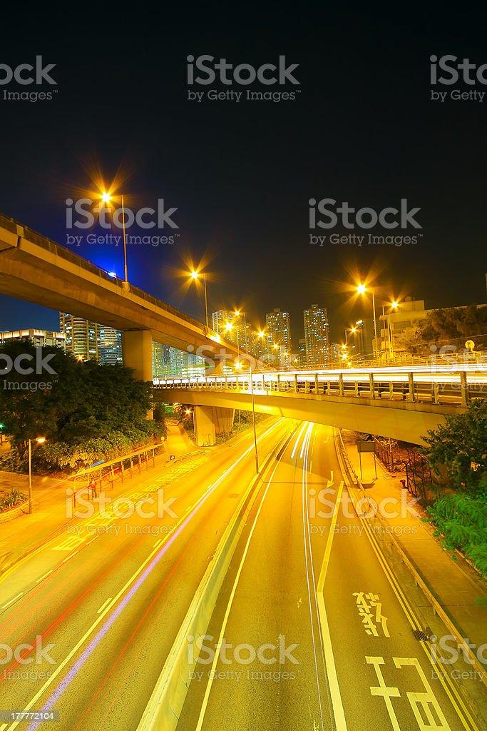 Traffic speed at night royalty-free stock photo