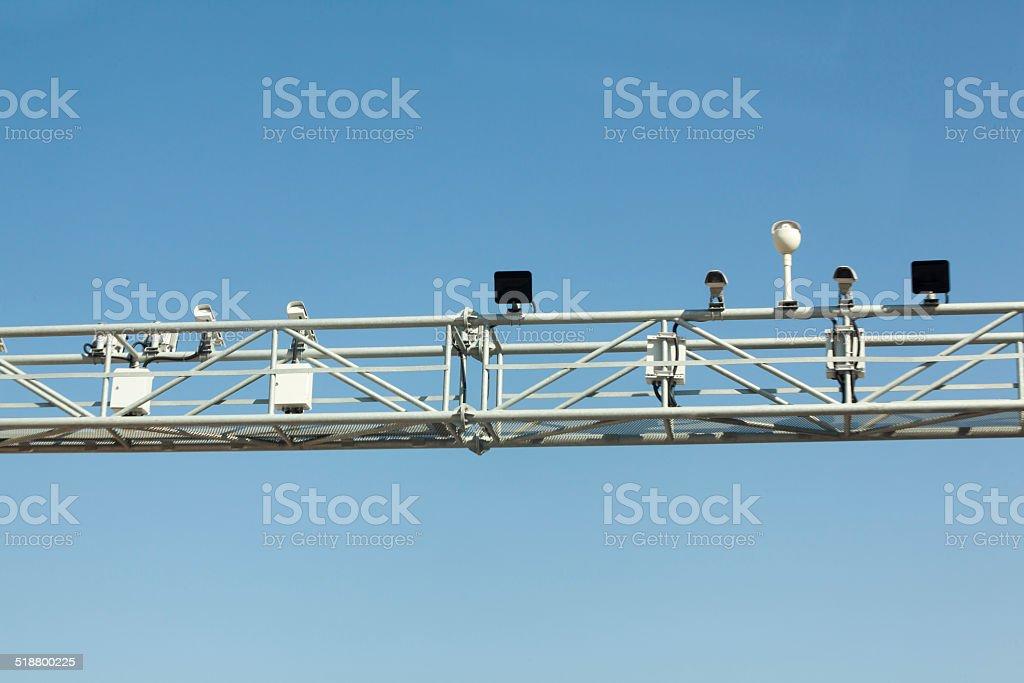 traffic surveillance camera stock photo