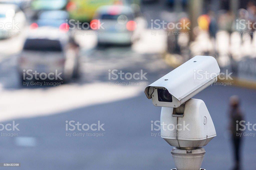 traffic surveillance prober on the street stock photo