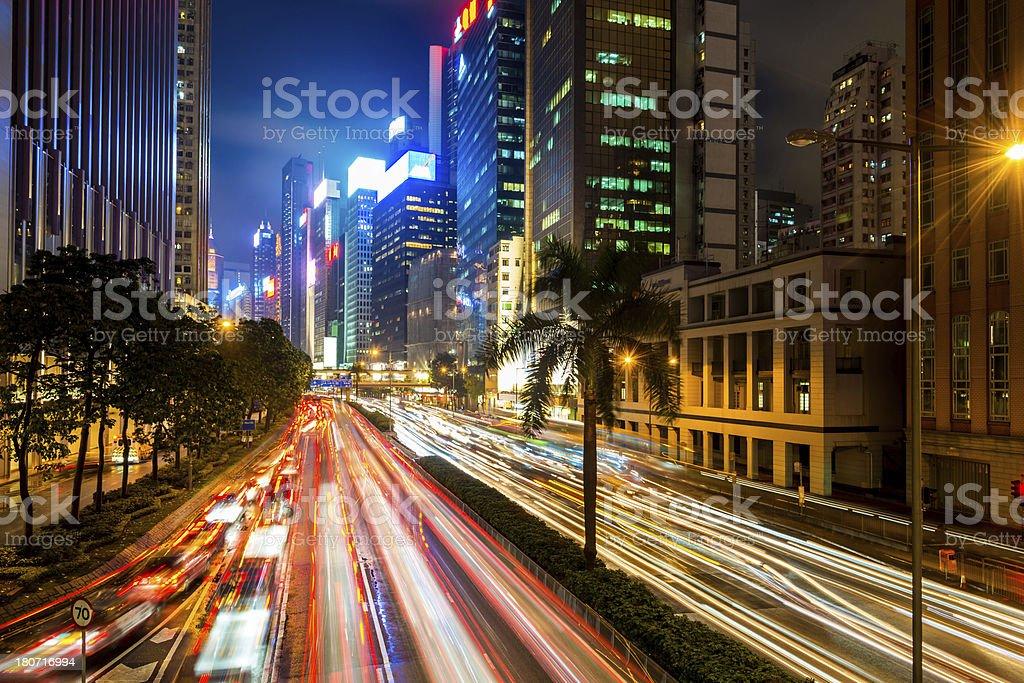 traffic through city royalty-free stock photo