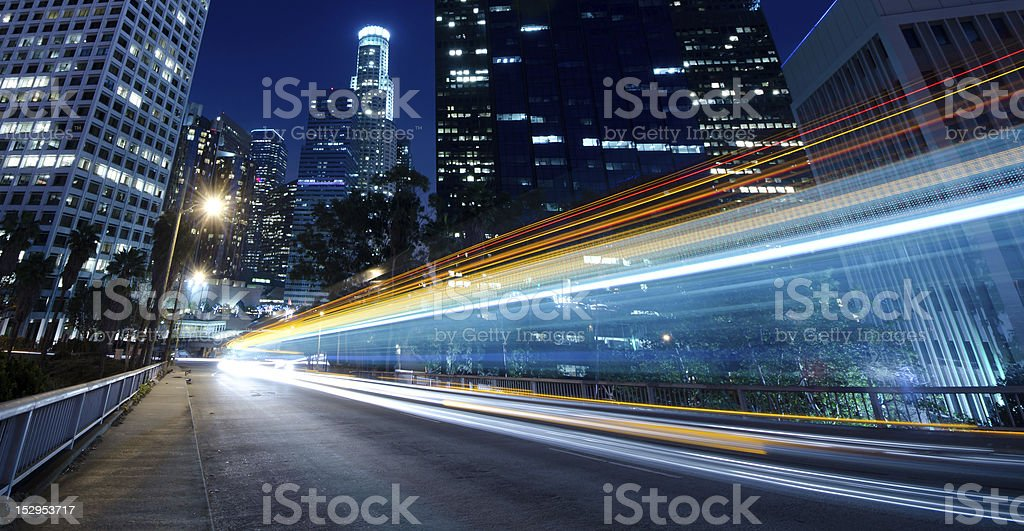Traffic through the city royalty-free stock photo