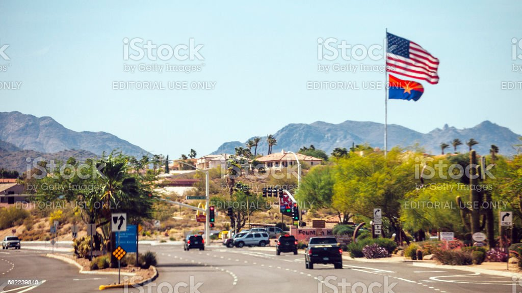Traffic to Phoenix, Arizona. stock photo