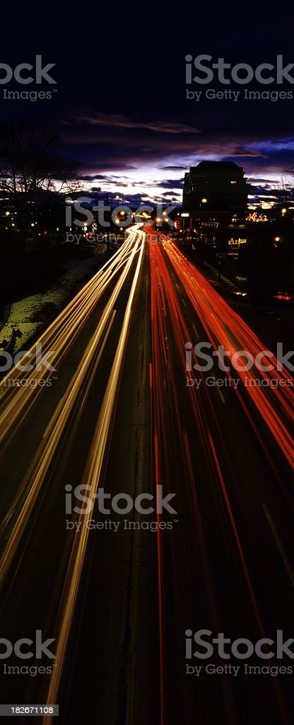 Traffic Trails & Chinook Arch royalty-free stock photo